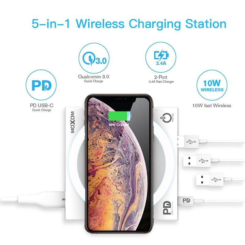 Baseus лампа Qi Беспроводное зарядное устройство для iPhone XS Max X складной настольный светодиодный светильник быстрая Беспроводная зарядка для ... - 3