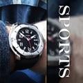 Sinobi moda para hombre relojes deportivos impermeable 100 m natación buceo reloj luminoso de primeras marcas de lujo 2017 de los hombres militar reloj de pulsera
