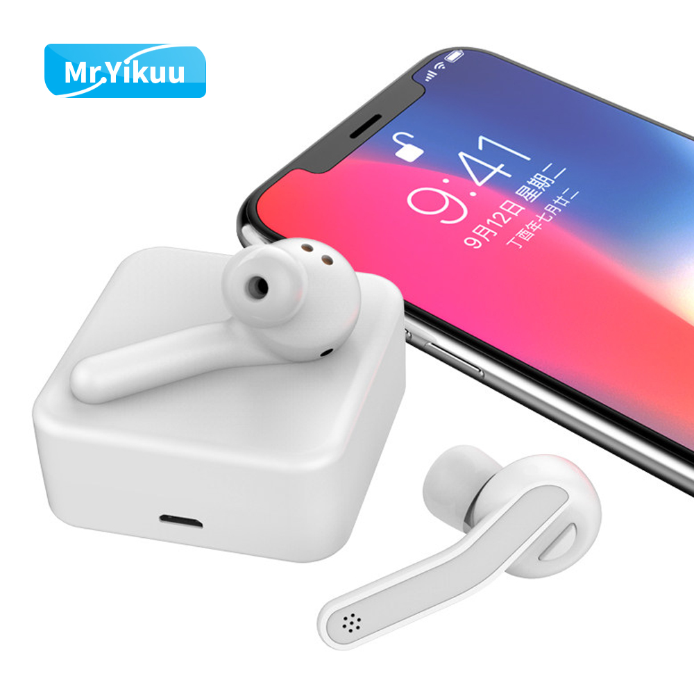 Bluetooth 5.0 Earphone Earbuds Stereo Music Headset Sports Headphone With Charging Box For iPhone 5 6 7 SE Xiaomi Huawei Samsung syllable d700 bluetooth 4 1 earphone sport wireless hifi headset music stereo headphone for iphone samsung xiaomi no box