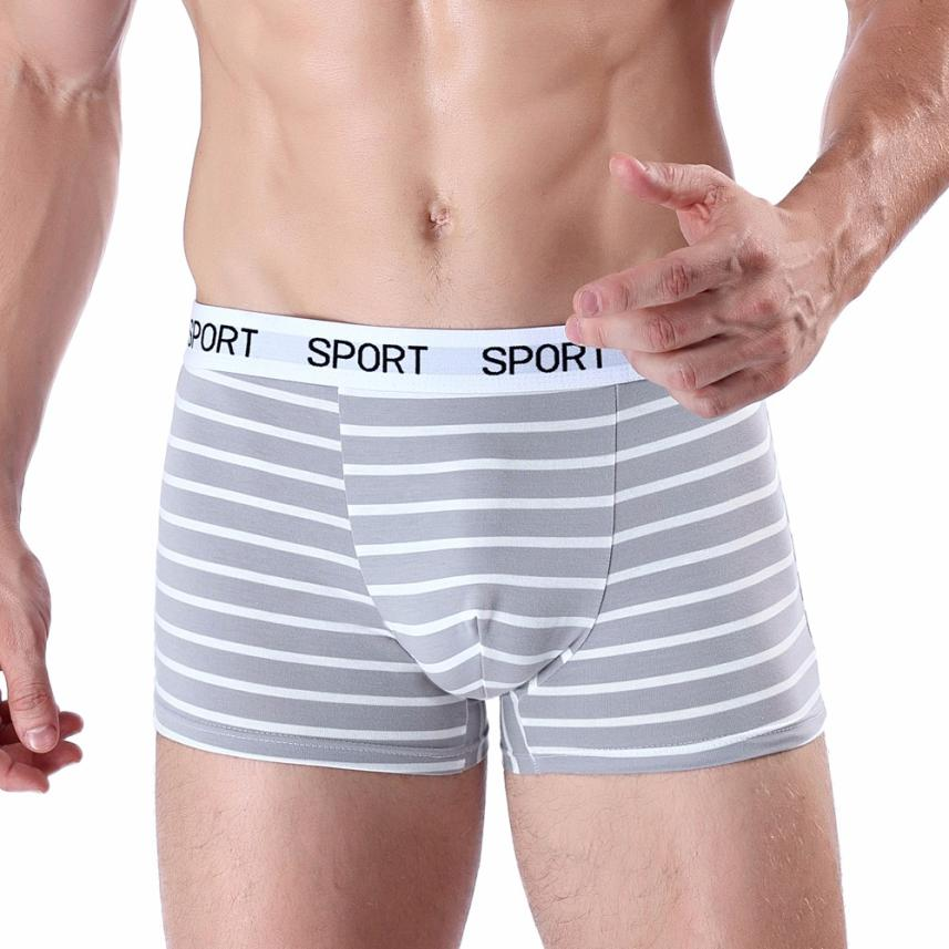 Men's Boxer Soft Striped Underpants Knickers Shorts Sexy Underwear
