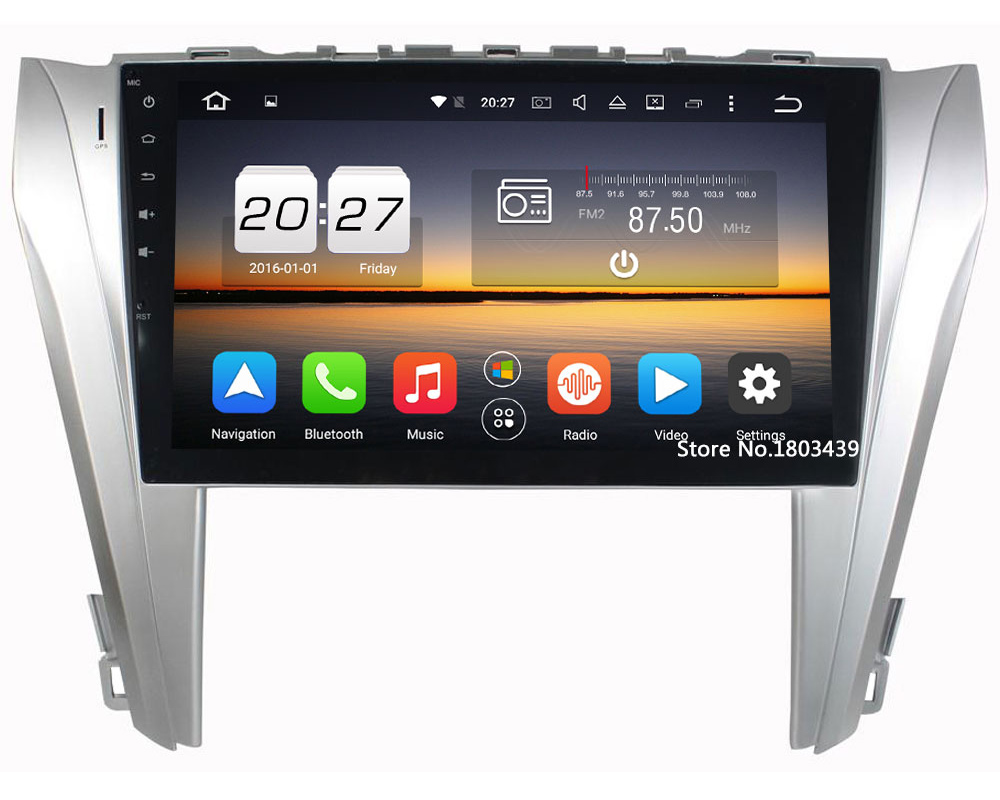 Android 6.0.1 Octa Core 2GB RAM 32GB ROM Car DVD Player Bluetooth Stereo Radio 2Din Multimedia For Toyota Camry 2014-2015