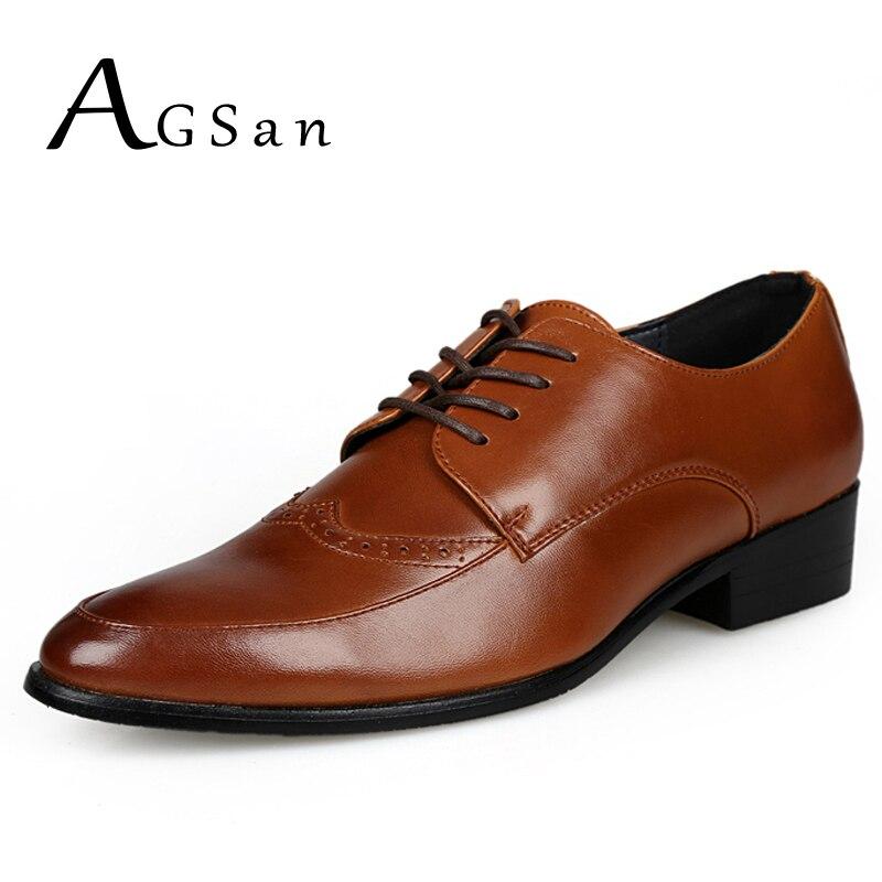 AGSan italian formal mens dress shoes genuine leather font b oxfords b font brogue shoes 2017
