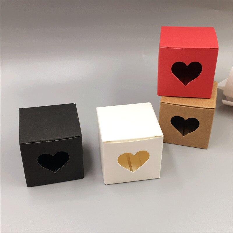 30Pcs Small Cube Kraft Paper Packing Box 5x5x5cm Mini  Handmade Soap/Cake/Candy Box Cardboard Wedding Favor Wrapping