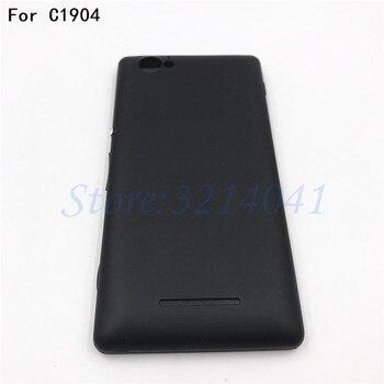Nueva puerta de la batería de la contraportada para Sony Xperia M C1904 C1905 C2004 C2005 cubierta de la batería puerta trasera cubierta con logo