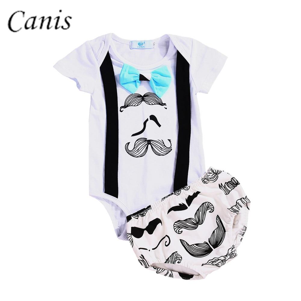 311199e4d Infant Toddler Kids Newborn Baby Boys Beard Shirt Tops+Shorts Pants Clothes  Set Outfits ...