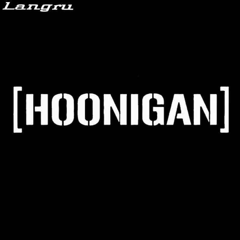"""Langru Лидер продаж 6 """"Hoonigan виниловая наклейка Стикеры окна автомобиля stying Творческий Наклейки JDM"""
