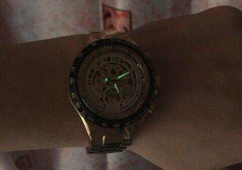 Winner New Number Sport Design Bezel Golden Watch Mens Watches Top Brand Luxury Montre Homme Clock Men Automatic Skeleton Watch 27
