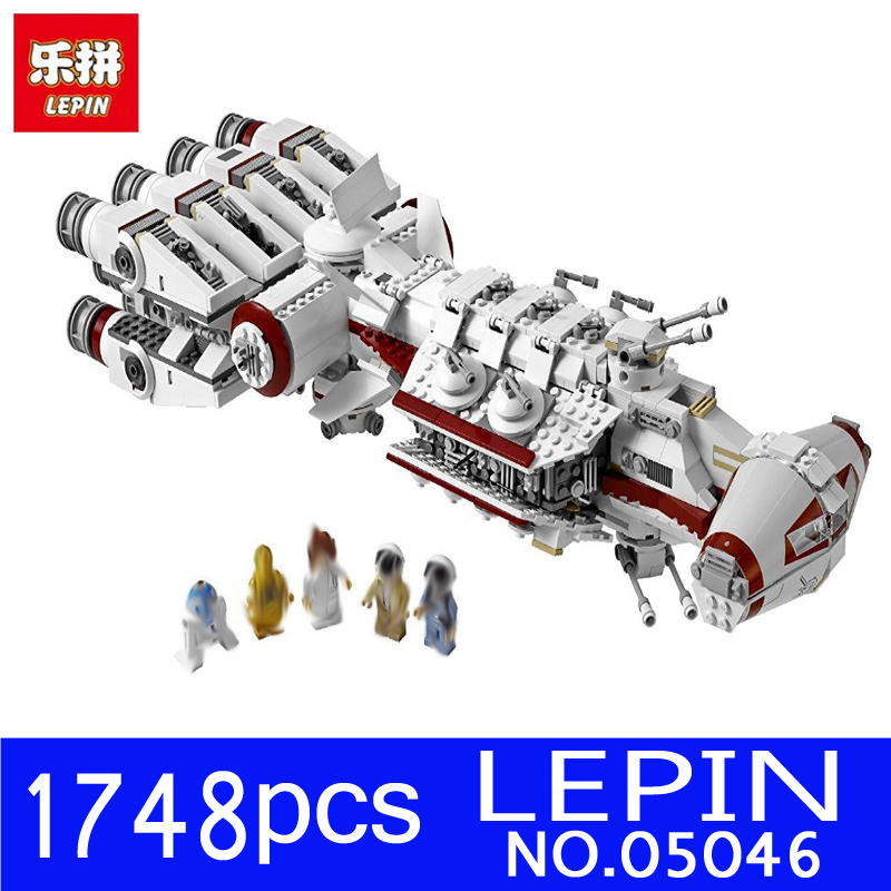 LEPIN 05046 1748Pcs Star Series Wars Tantive IV Rebel Blockade Runner Set Building Blocks Bricks Educational Children Toys 10019 sme series iv