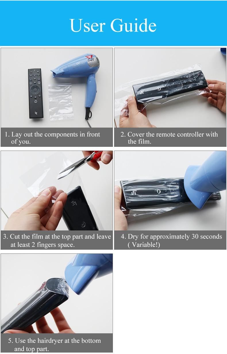 SIKAI 10 PCS Panas Menyusut Film Untuk Apple Samsung LG TV Ac Remote - Aksesori dan suku cadang ponsel - Foto 6