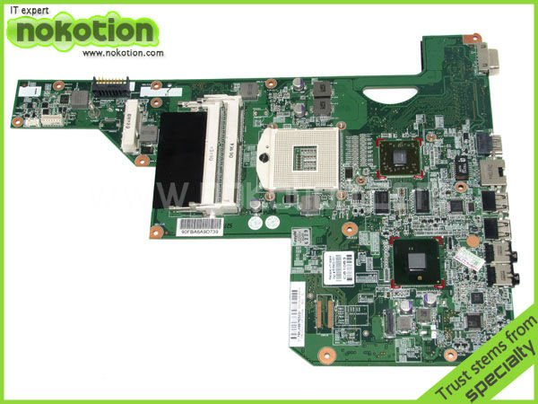 NOKOTION LAPTOP MOTHERBOARD for HP G62 G72 main board 605902-001 HM55 with graphics DDR3 for hp g62 g72 laptop motherboard with graphics 615848 001 01013y000 388 g