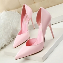 New Summer Shoes Women Elegant Pumps Pointed Sexy Club Ultra Thin High Shoes High-heeled Shoes Hollow Sweet Stiletto G3168-3 elegant black women patent leather pumps high heeled shoes thin high heel korean shoes hollow pointed stiletto spring dress us