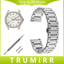 Quick Release Stainless Steel Watchband 18mm 20mm 22mm for Seiko Men Women Watch Band Butterfly Buckle Wrist Strap Link Bracelet