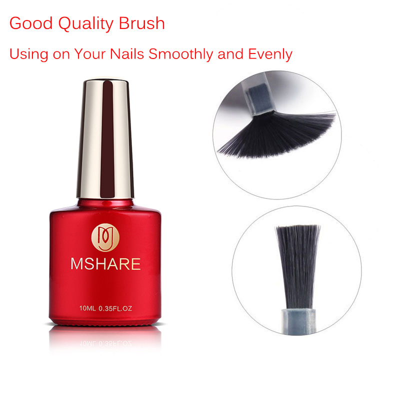 MSHARE Primer Base Lquid Top Coat Reinforcement UV Gel Polish Matt Tops Nail Varnish Lacquer No Clean Wipe Sticky Layer R07 in Nail Gel from Beauty Health