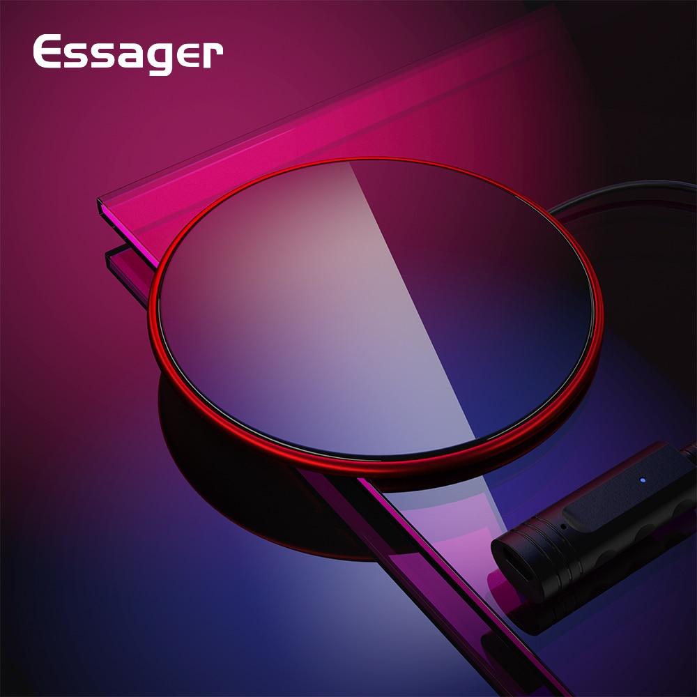 Aus Dem Ausland Importiert Essager 10 W Qi Drahtlose Ladegerät Für Iphone Xs Max Xr X 8 Xiao Mi Mi 9 Samsung S10 S9 Ultra Dünne Glas Schnelle Drahtlose Aufladen Pad Aromatischer Geschmack Handy-zubehör