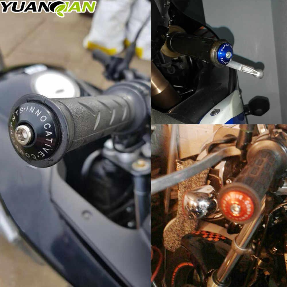 "For Kawasaki GTR1400 VN1600 VN1500 GPZ1100 500S EX500 Z800 7/8"" 22mm CNC Universal Motorcycle Hand Bar Ends Handlebar Grips Ends"