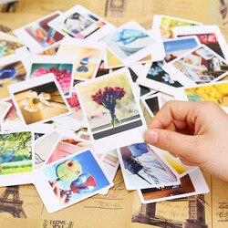 55 шт./упак. Винтаж декоративный мини ломо карта поздравительная открытка Почтовые открытки на день рождения с буквенным принтом конверт под...