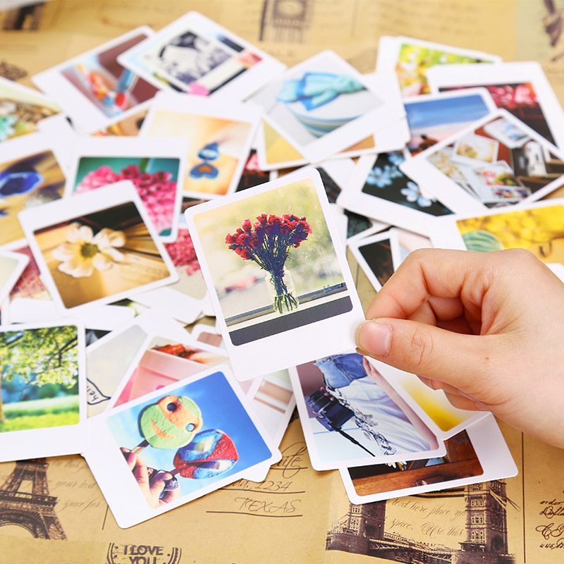 55 Pcs/Pack Vintage garnish Mini Lomo Card Greeting Card Postcard Birthday Letter Envelope Gift Card Set Message Card gopole