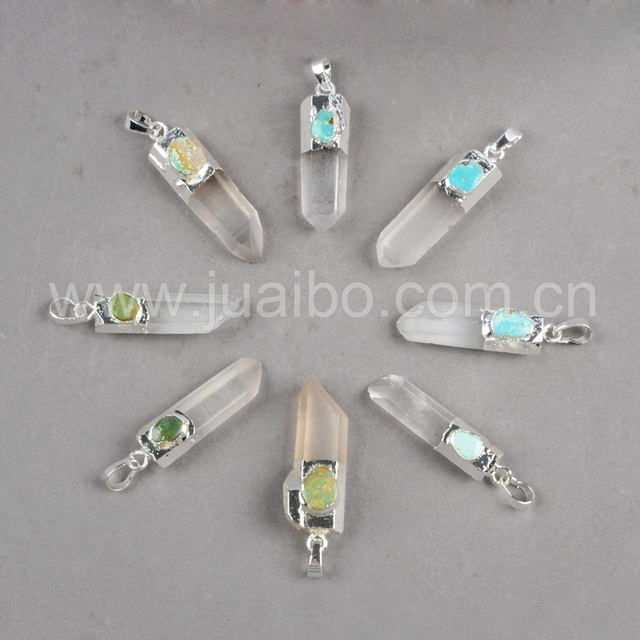 Cluster aura druzy quartz crystal point genuine turquoise pendant cluster aura druzy quartz crystal point genuine turquoise pendant silver electroformed fashion jewelry s0156 mozeypictures Gallery