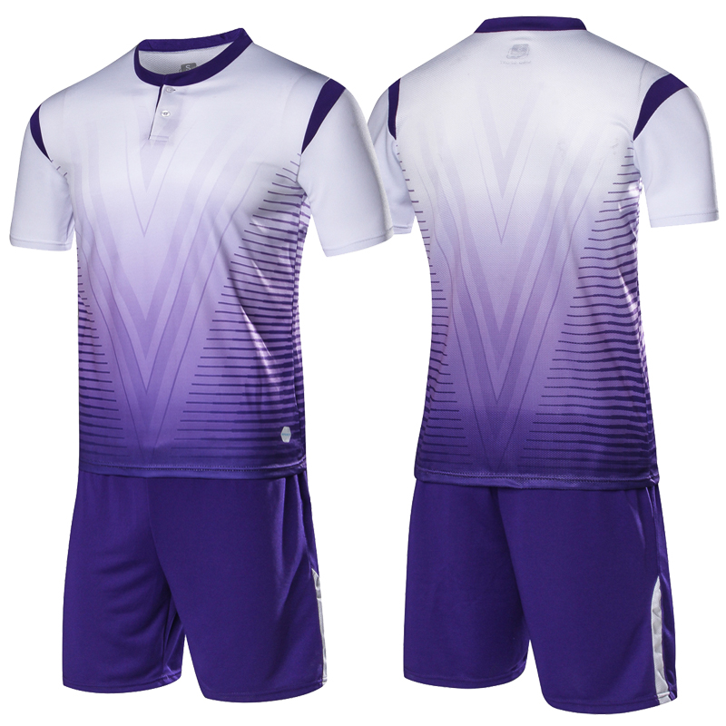 e43e0b227bf sporting soccer jersey Men/kids Soccer Suits Sets Adult button football  training jerseys suits custom Football Shirt Tracksuit-in Soccer Sets from  Sports ...