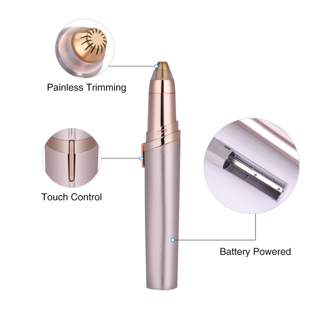 Electric Face Eyebrow Hair Remover Epilator Mini Eyebrow Shaver Razor Instant Painless Portable Epilator Shaving Eyebrow Trimmer 1