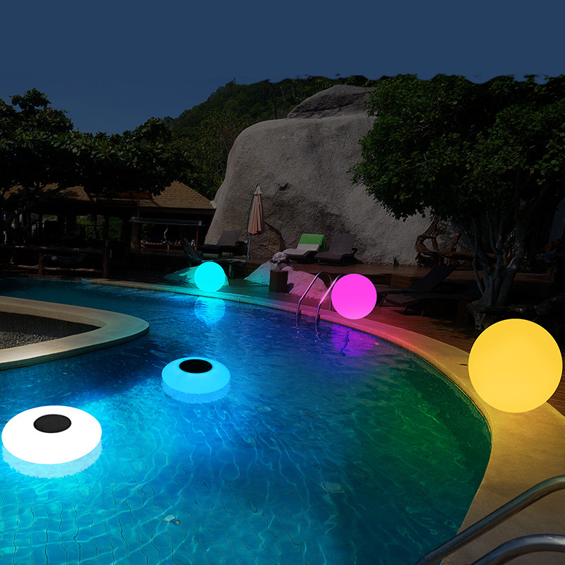 Solar Power RGB LED Ball UFO Outdoor Garden Courtyard IP67 Waterproof 16-Color Changing Light Event Party Decorative Night Lamps