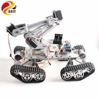 6 DOF Mechanical Arm with TS400 Shock Absorber Tank Chassis for Grabbing Transport DIY STEM Educational Project