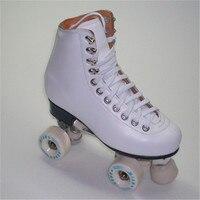 جديدة مزدوجة الأسطوانة الرقم تزلج اثنين خط الأسطوانة تزلج patins patins للجنسين adulto أبيض وأسود أحذية تزلج الكبار IB11