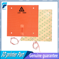 2pcs 310x310mm 120V 750W Silicone Heater Pad For Creality CR 10 3D Printer Bed With Screw Holes,3M Adhesive Backing & Sensor