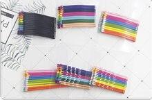 12 adet renkli popülerlik basit tokalar siyah alaşım şık boyalı Basitic saç klipleri saç tokaları saç aksesuarları şapkalar
