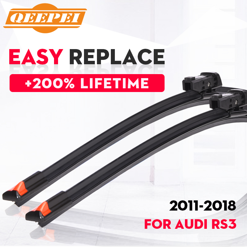QEEPEI Replace Wiper Refill Windscreen Wiper Blades For Audi RS3 8PA 8VA 2011-2018 Windshield Rubber Car Accessorie