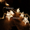 8M 50 LED Battery Five pointed Star christmas lights outdoor fairy string lights for wedding new year Xmas Garlands decoration