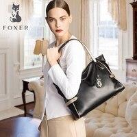 FOXER мягкие Для женщин Пояса из натуральной кожи сумка Твердые Multi Цвет Женский Сумочка с Бесплатная доставка