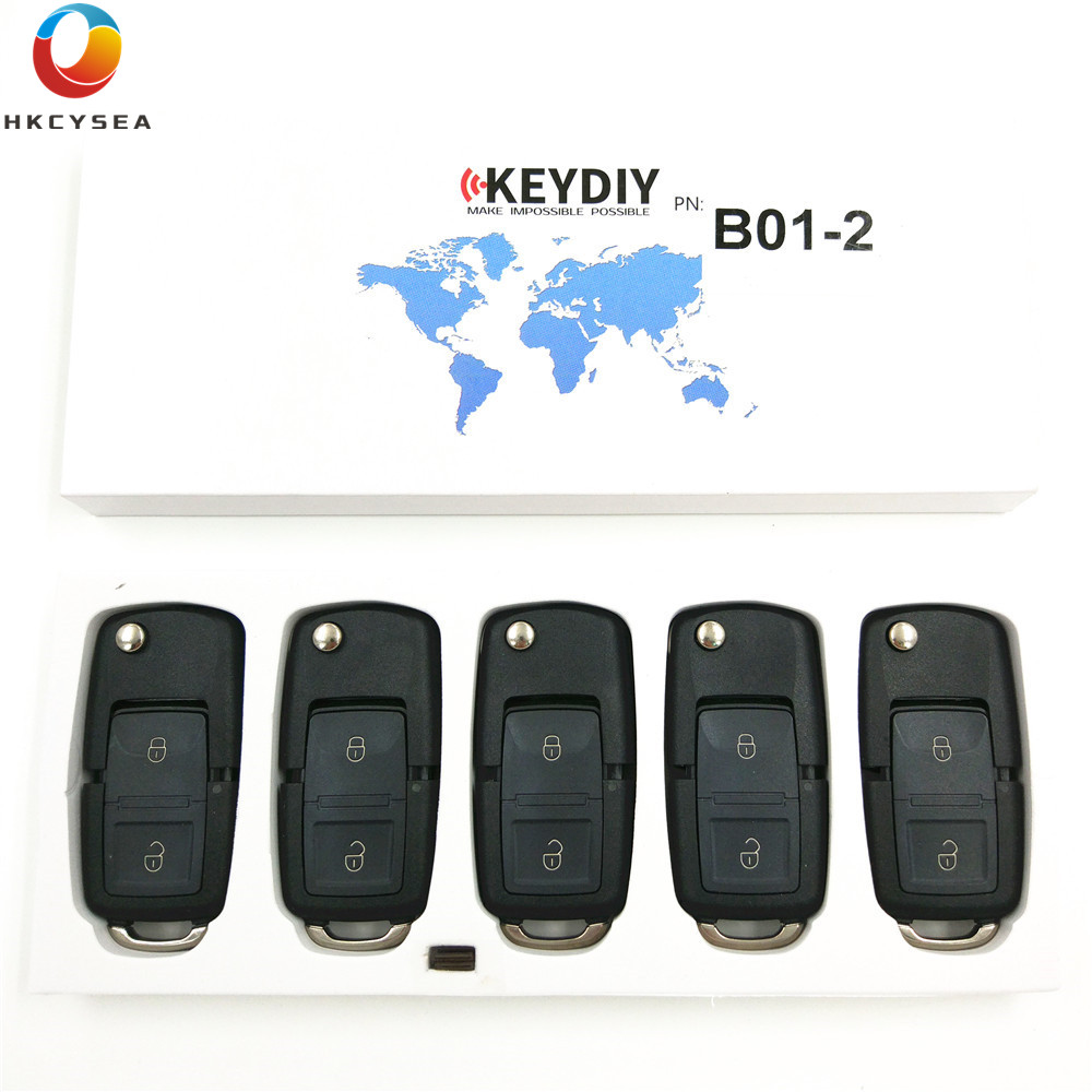 HKCYSEA 5PCS LOT B01 2 2 Button B Series Remote Key for KD900 URG200 KD X2