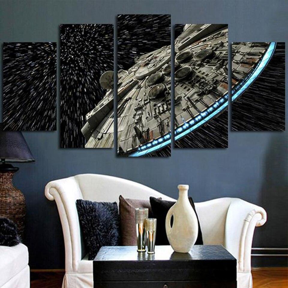 Moderne Wand Kunst Bilder Wohnkultur Poster 5 Panel Star Wars ...