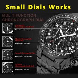 Image 5 - Часы наручные WWOOR мужские с большим циферблатом, брендовые Роскошные спортивные золотистые с хронографом, 2019, 2019