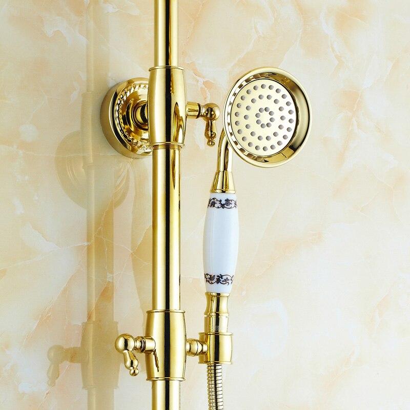 Gold Überzogene diamant dusche wasserhahn doule duschkopf ...
