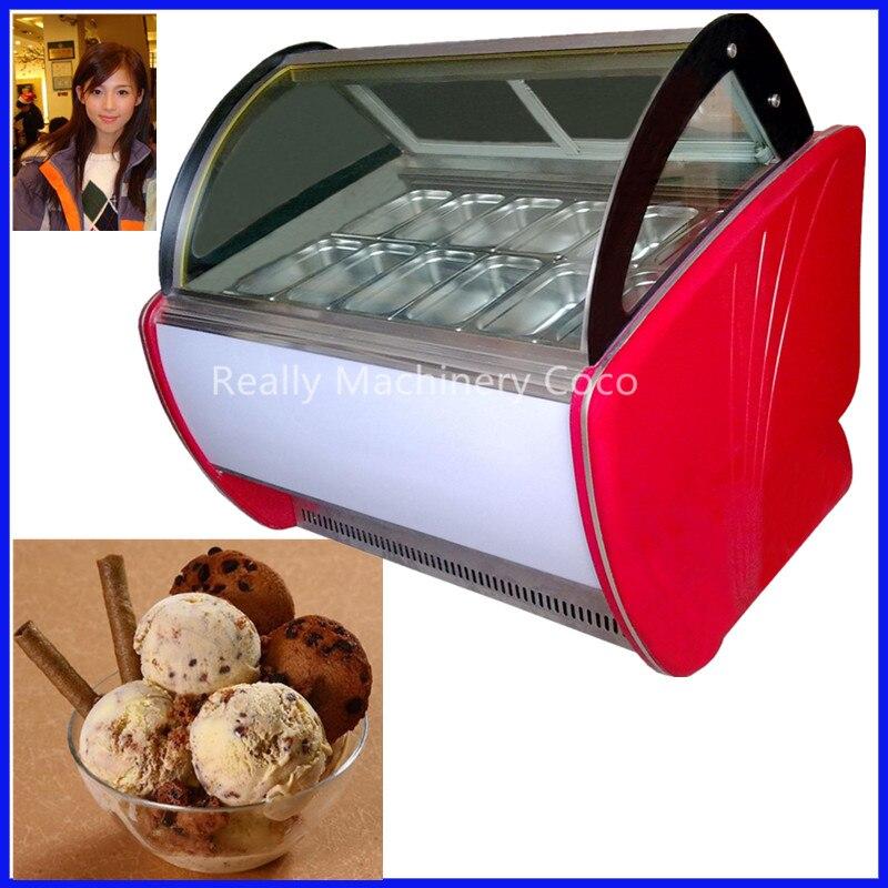 Vitrina de helado/vitrina de helado para la venta certificación CE