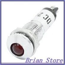 led pilot lamps с бесплатной доставкой на aliexpress com dc24v 8 мм Мощность подсветкой Красный светодиодный индикатор сигнала контрольная лампа