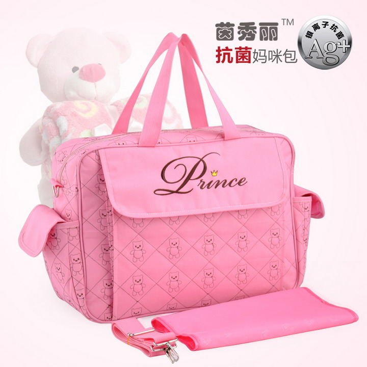 2016 New Nappy mummy baby diaper bags maternity Cartoon bear multifunctional high quality large capacity Tote Messenger bag