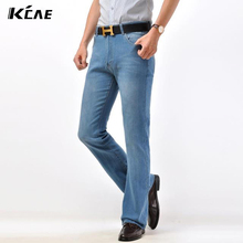 Free Shipping High Quality Promotion Men's Large Size Boot Cut Jeans Male Mid Waist Business Long Pants flares Trousers 28-40
