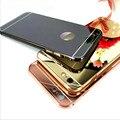 Зеркало алюминий чехол для iPhone 6 4.7 дюймов роскошный тонкий акриловая задняя крышка для iPhone 6 s плюс 5.5 4S 5S мобильный телефон капа Fundas