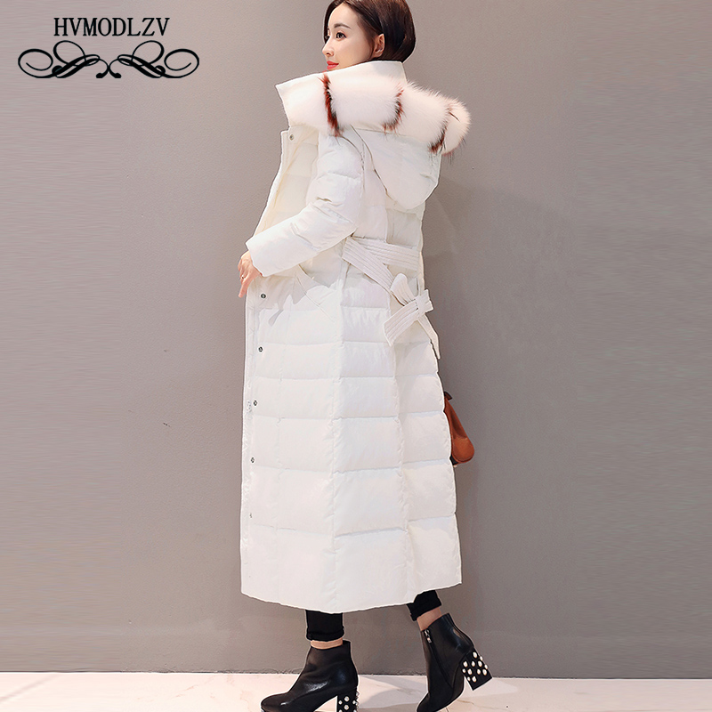 Winter Long Down jacket women Chaqueta mujer Fashion warm White duck down Top Coat woman Chaquetas invierno mujer lj239