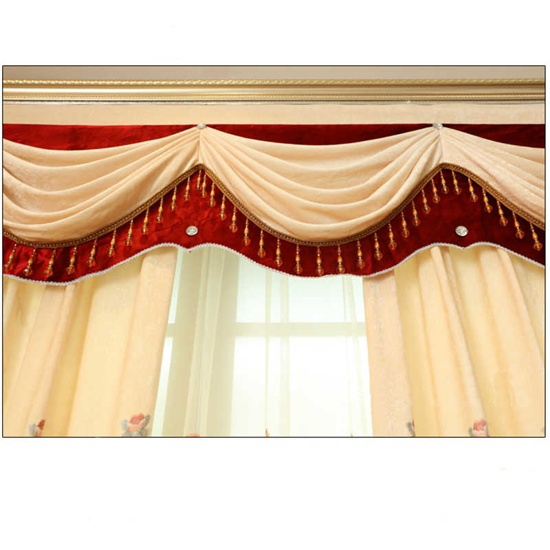 2018 Promotion Hot Sale Europe Cafe Cortinas Dormitorio Curtains 1pc  Valance European Pelmet Window Blackout For Bedroom