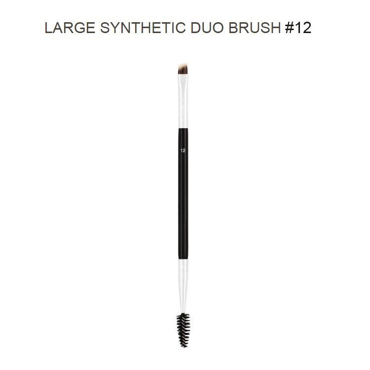 Duo Brow Brush 12# 15# 7# 20# Eyebrow Enhancer Angled Eyebrow Brush + Comb Professional Beauty Makeup Tool 1PCS трафареты kiss go brow eyebrow stencils sexy look