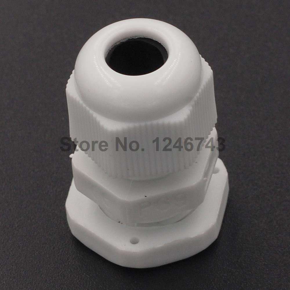 10PCS PG16 10-14MM Waterproof Nylon Cable Gland No Waterproof Gasket Plastic Cable Gland