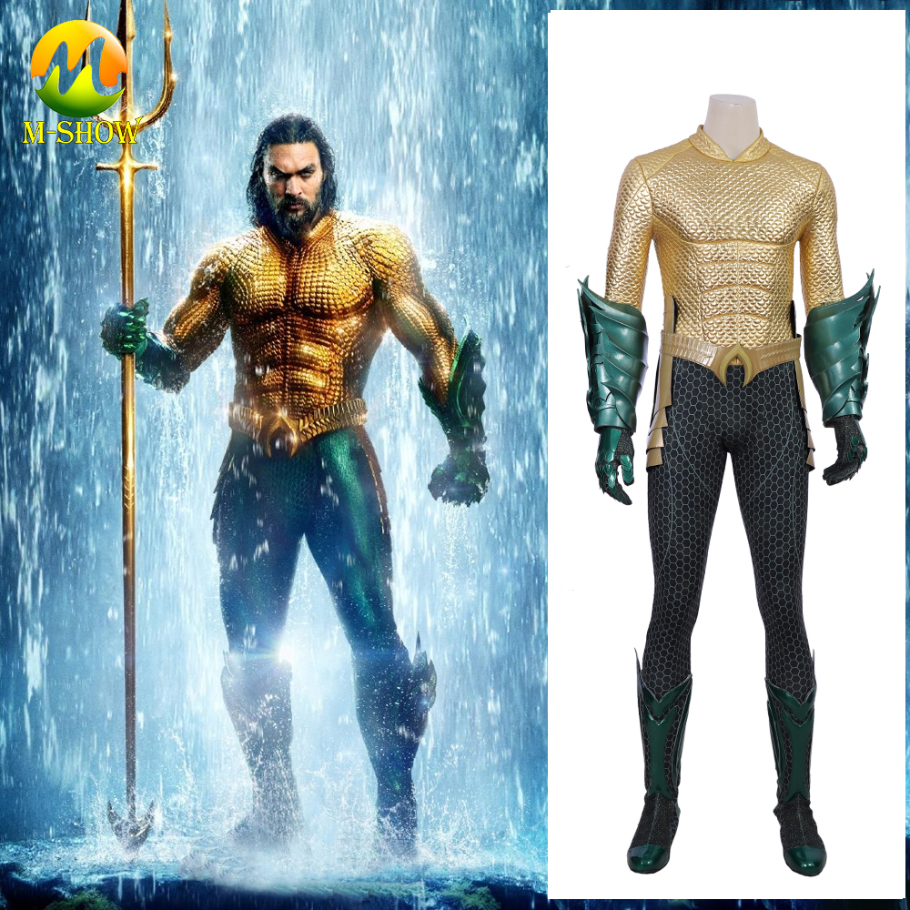Aquaman Arthur Cosplay Costume Arthur Adult Male Cosplay Outfit Full Set Halloween Custumes For Men Custom Made