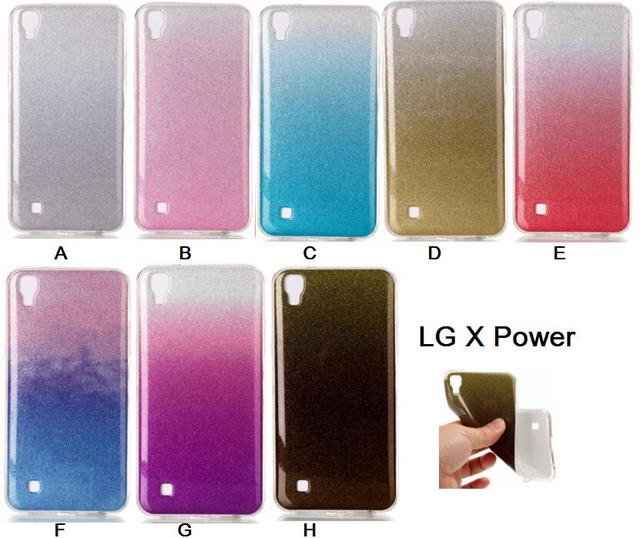 cheap for discount 1676c dc9ed US $2.89 |For LG X Power Case Silicone Glitter Phone Cover For LG XPower  Cases LGX Power Soft TPU Shiny Back Fundas-in Half-wrapped Case from ...