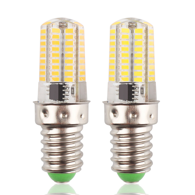 E14 8W Dimmable Warm/Cool White 72 LED 4014 SMD Light Bulb Silica ...