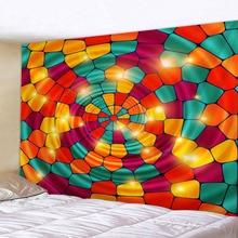 купить Color Bohemian Hippie Tapestry Mandala Vortex Wall Decorative Wall Hanging Background Cloth Beach Towel 150x130cm по цене 488.48 рублей