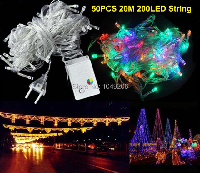 Wholesale 50 PCS 20M 200 LED String Light For Outdoor Garden Party Wedding  Fairy Decorating Bulbs - Aliexpress.com : Buy Wholesale 50 PCS 20M 200 LED String Light For
